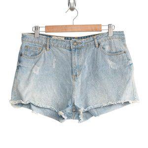 Lee Cooper Cutoff Denim Shorts Preloved - Size 12